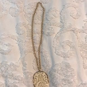 Kenneth Jay Lane carved ivory  pendant necklace